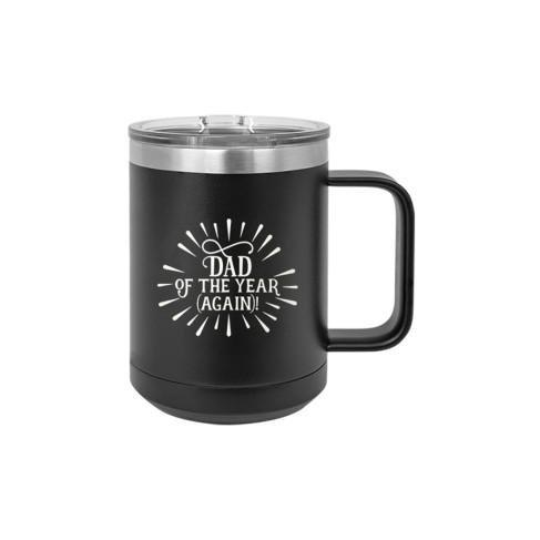 Dad of the Year Black 15oz Insulated Mug
