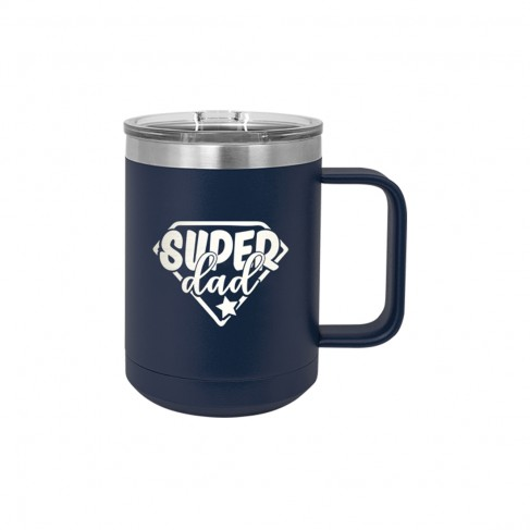 Super Dad Navy 15oz Insulated Mug