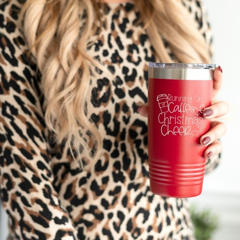Caffeine & Christmas Red 20oz Insulated Tumbler