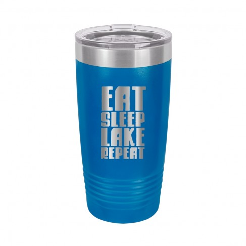 Eat, Sleep, Lake Royal Blue 20oz Insulated Tumbler