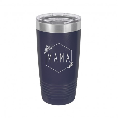 Floral Mama Navy 20oz Insulated Tumbler