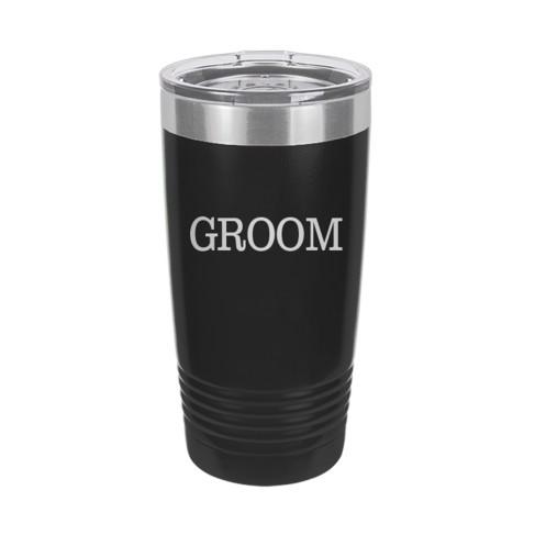 Groom Black 20oz Insulated Tumbler