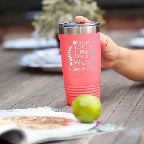 Wherever You Go 2020 Coral 20oz Insulated Tumbler