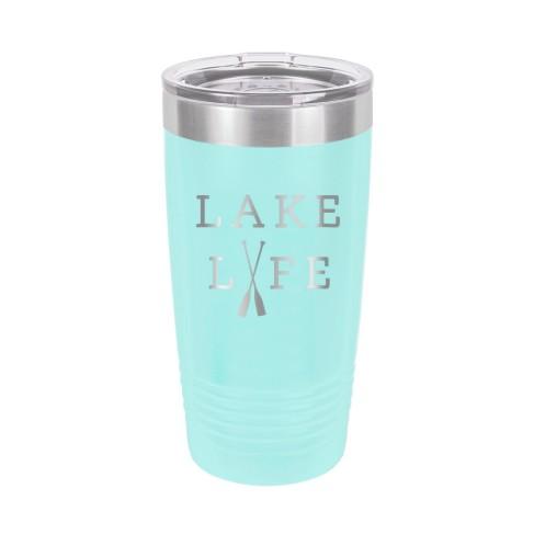 Lake Life Teal 20oz Insulated Tumbler