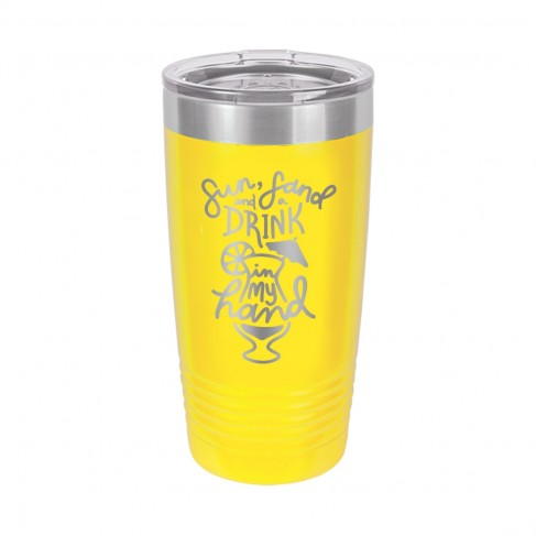 Sun Sand and Drink in my Hand 20oz. Insulated Tumbler
