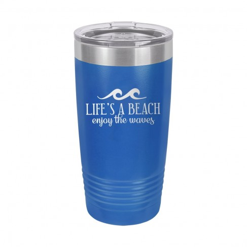 Life's a Beach Enjoy the Waves Royal Blue 20oz Insulated Tumbler
