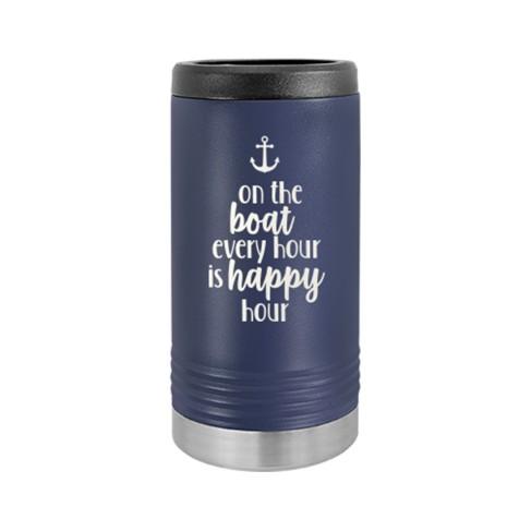 Boat Happy Hour Slim Can Beverage Holder