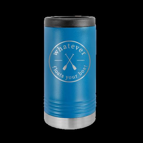 Whatever Floats Royal Blue Slim Can Beverage Holder