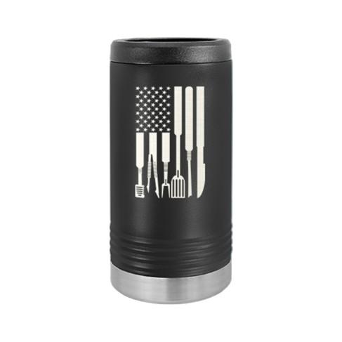 Grill Flag Slim Can Beverage Holder