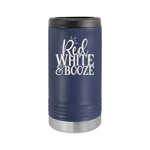 Red, White & Booze Slim Can Beverage Holder