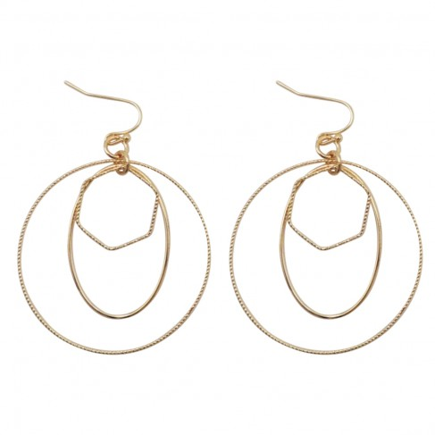 Gold Circle Dainty Earrings