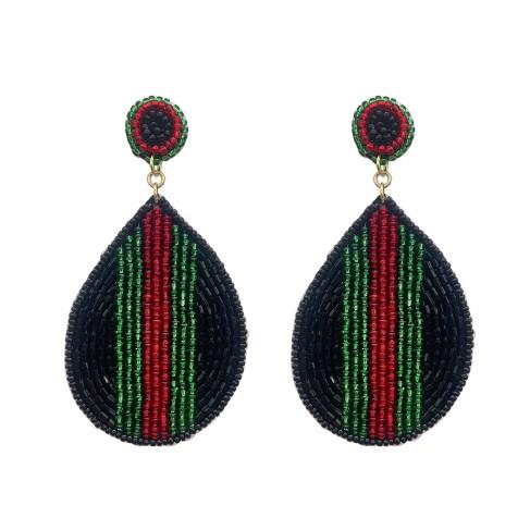 Designer Stripe Maggie Earrings