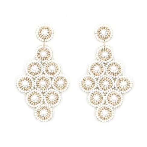 White Luna Earrings