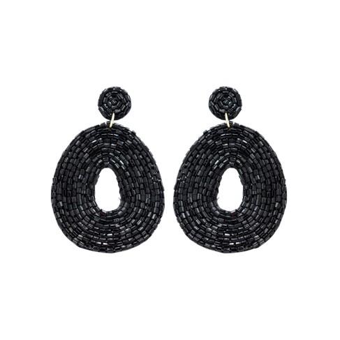 Black Caroline Earrings
