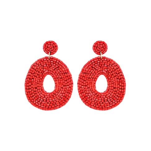 Red Caroline Earrings