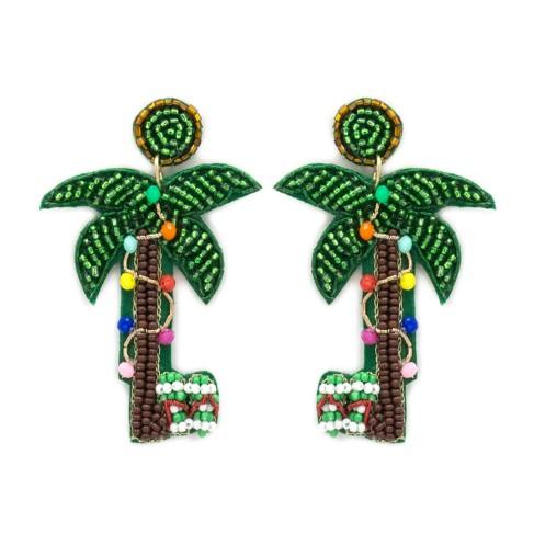Christmas Palm Tree Earrings