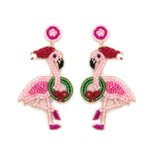 Festive Flamingo Earrings