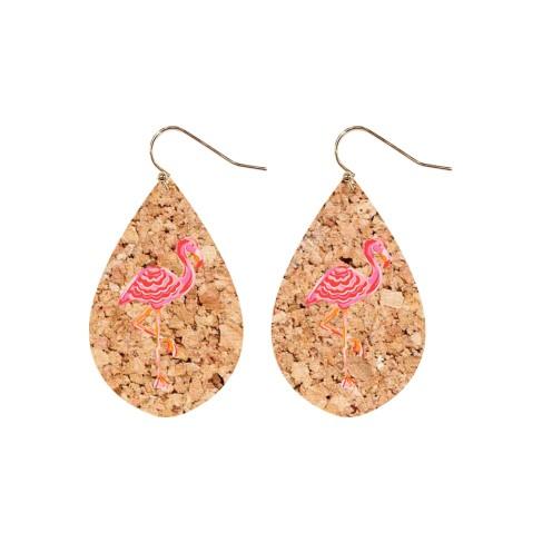 Flamingo Cork Earring