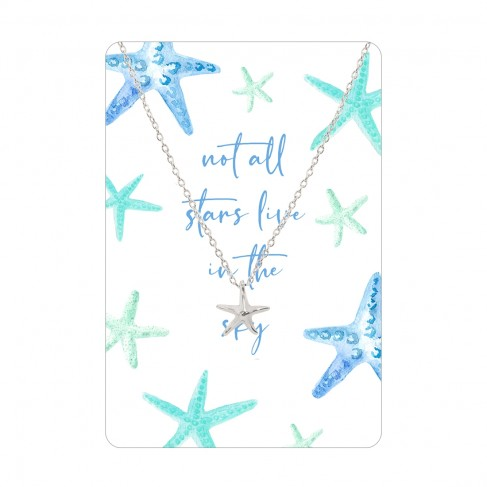 Not All the Stars Keepsake Necklace Card