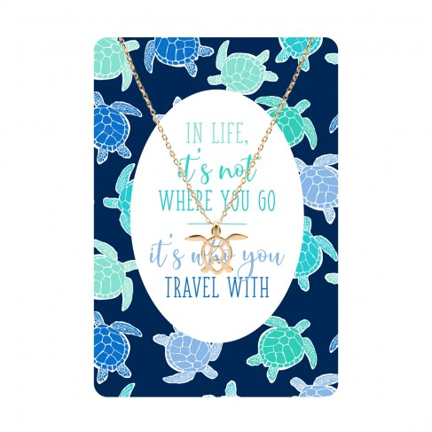 It's Not Where You Go Keepsake Necklace Card