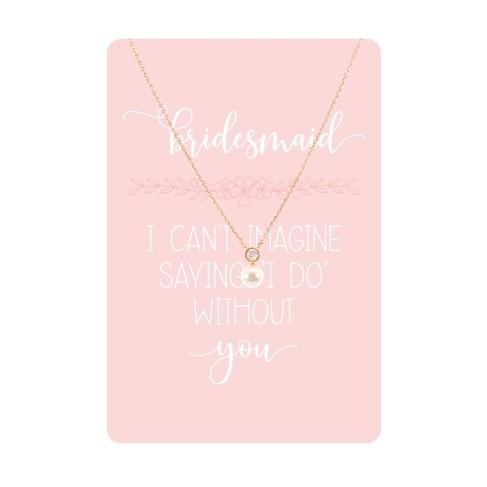 Bridesmaid Keepsake Necklace Card