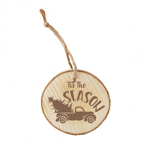 'Tis the Season Wood Ornament
