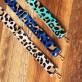 Aqua Leopard Crossbody Strap