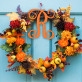 Vine Letter Wood Monogram